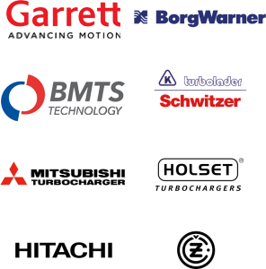 Garrett Advancing Motion, Mitsubishi Turbocharger, Holset Turbocharger, IHI Charging Systems International, Borgwarner Turbo Systems, CZ A.S, Hitachi.